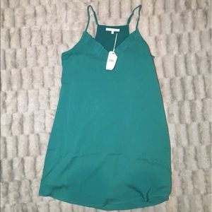naked zebra Teal Green Tank Dress